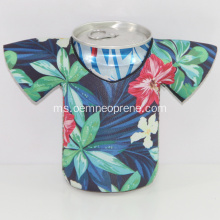 Berkualiti tinggi kalis air T-shirt Neoprene Beer Can Coolers